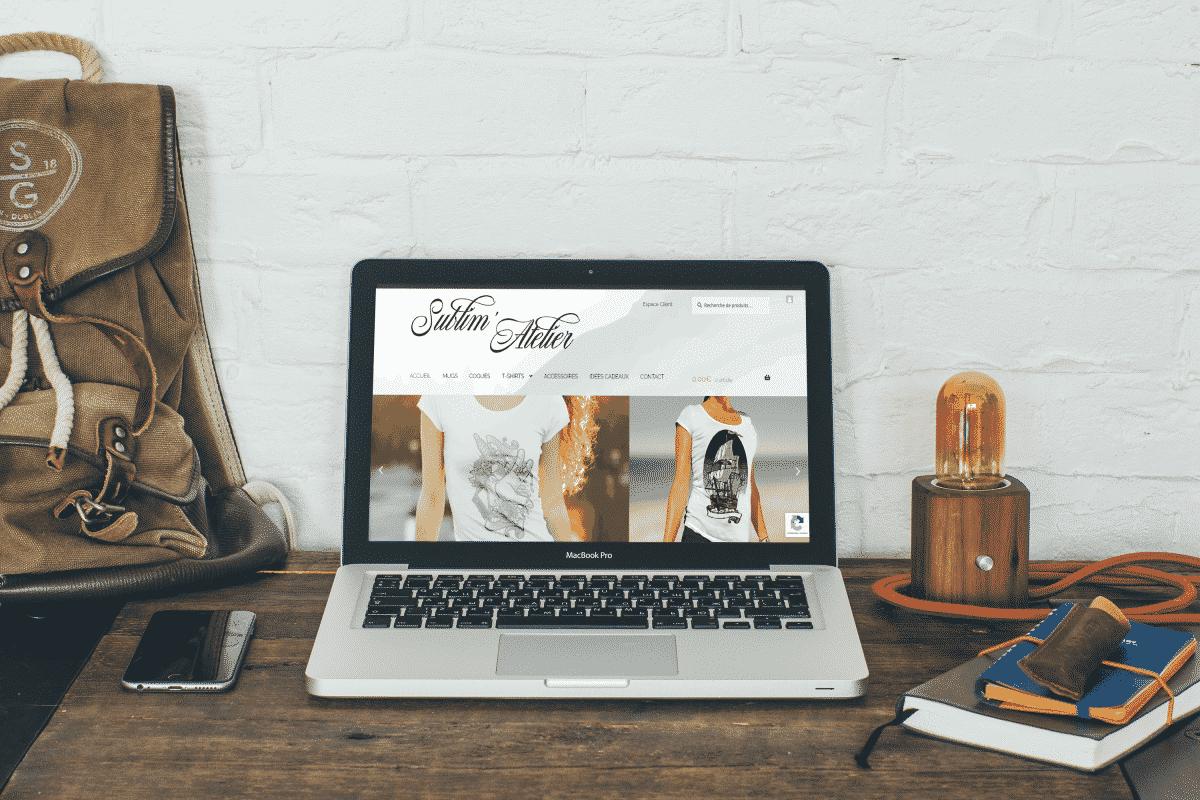 Mockup du site Sublim' Atelier