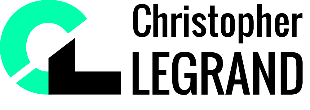 Version noir du logo de Christopher Legrand